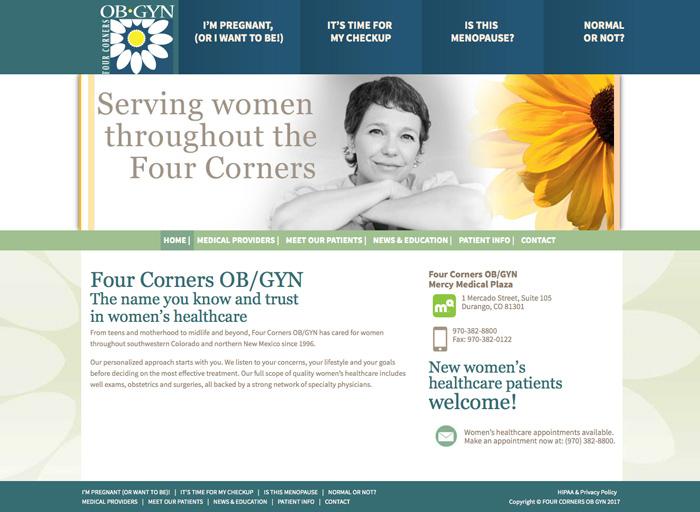 Website Design Four Corners OBGYN