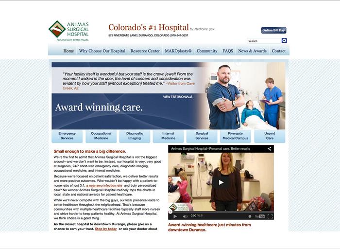 Website Design Animas Surgical Hospital