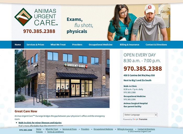 Website Design Animas Urgent Care