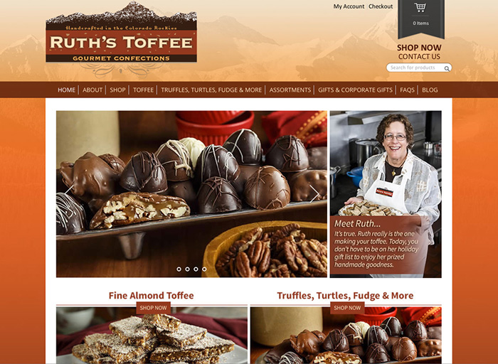 Website Design Ruth's Toffee