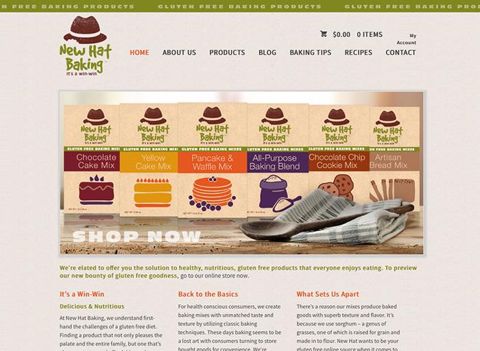 Website Design New Hat Baking