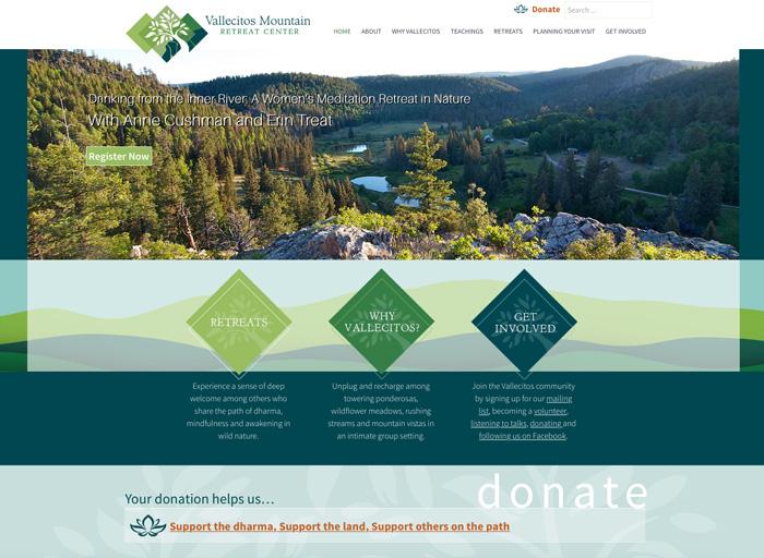 Website Design Vallcitos Mountain Retreat Center