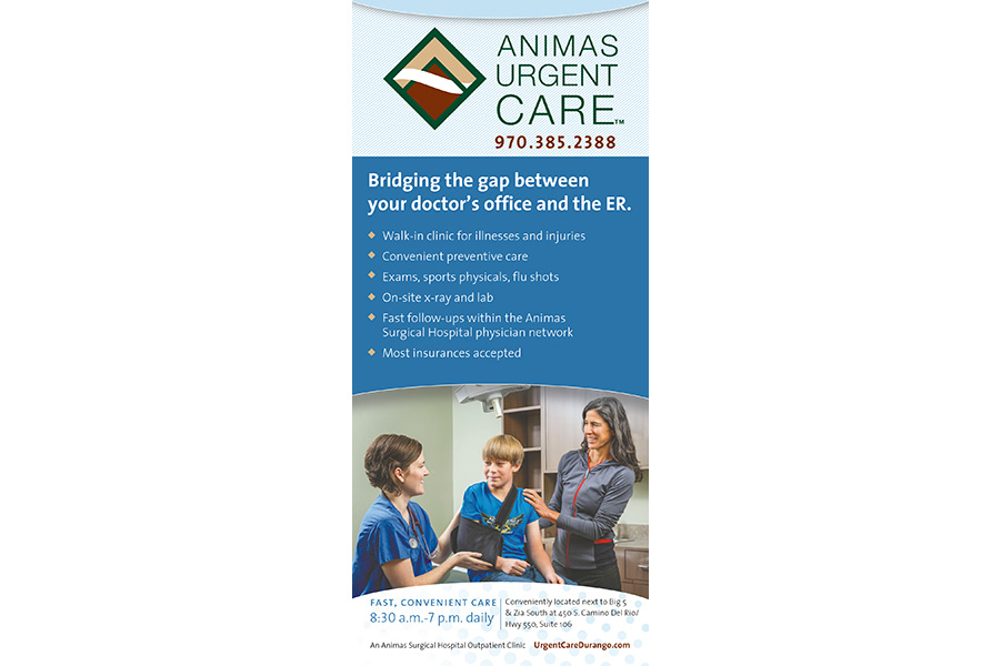 Animas urgent care ad