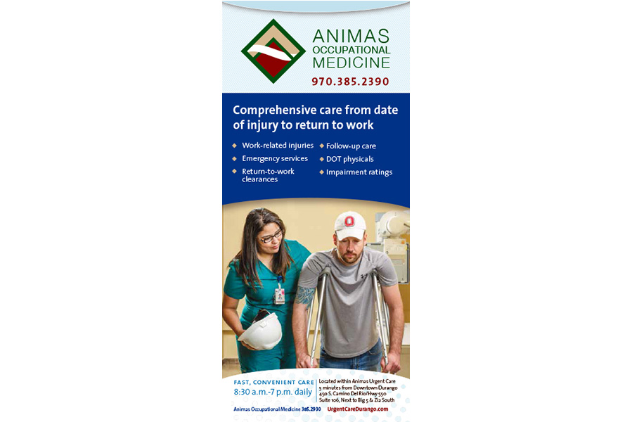 Animas Occupational Medicine ad
