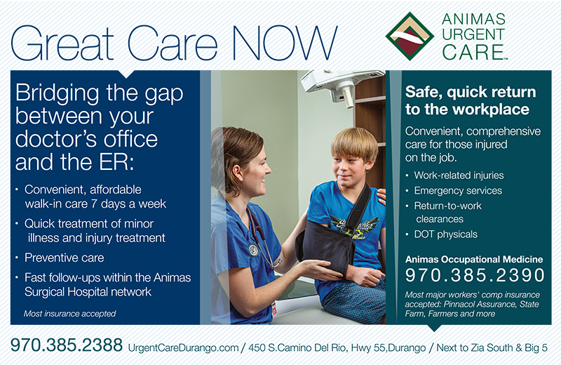 Animas Urgent care print ad 2