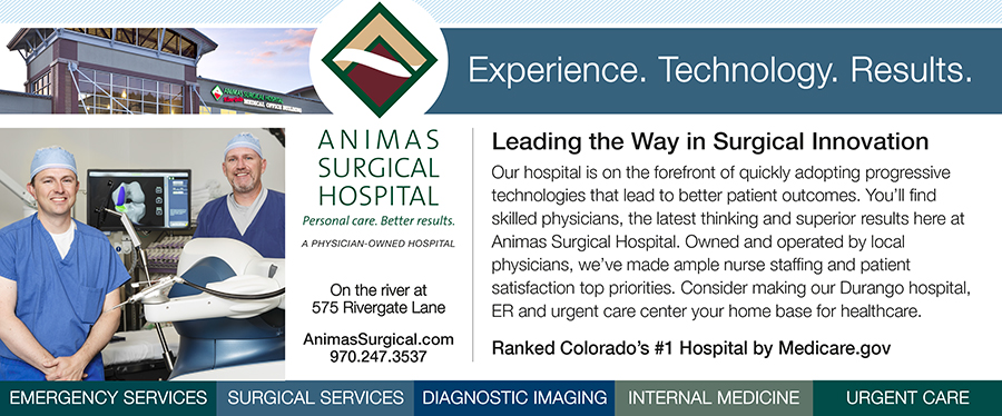 Animas Surgical large print ad