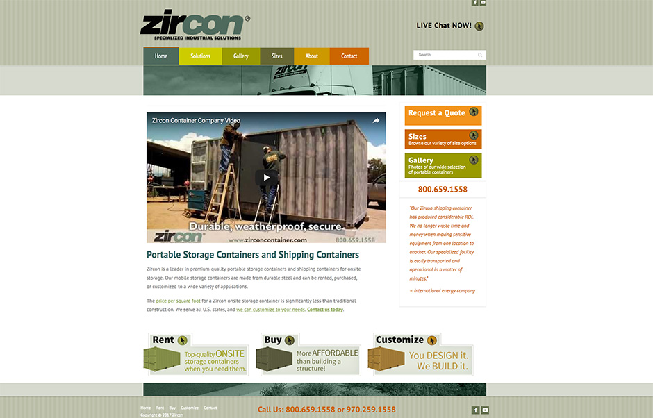 Zircon container home page