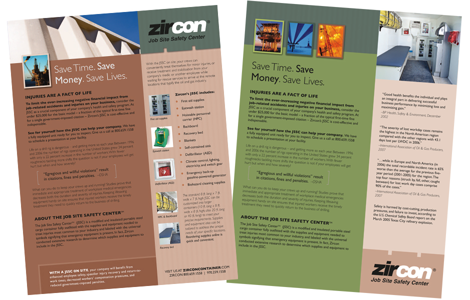 Zircon container sale sheet