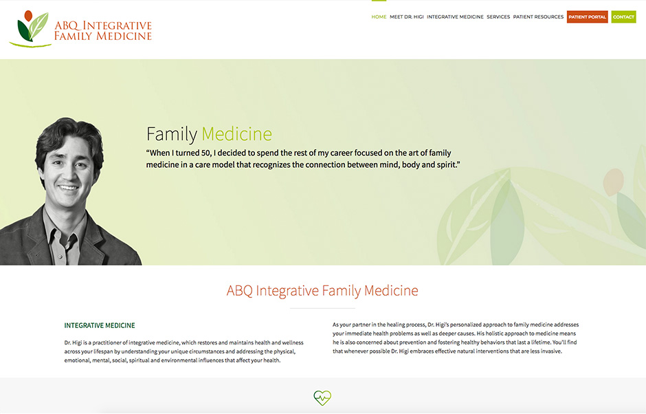 abq integrative family medicine webites home page