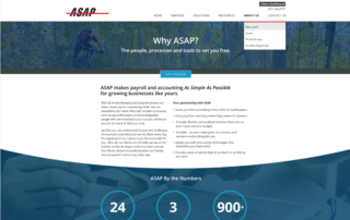 ASAP Accounting Associates website about page