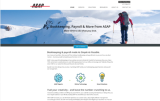 ASAP Accounting Associates website home page
